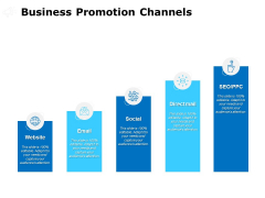 Business Promotion Channels Ppt PowerPoint Presentation Styles Example File