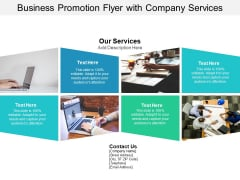 Business Promotion Flyer With Company Services Ppt PowerPoint Presentation Inspiration