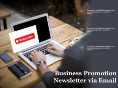 Business Promotion Newsletter Via Email Ppt PowerPoint Presentation Styles File Formats