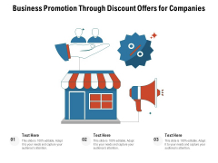 Business Promotion Through Discount Offers For Companies Ppt PowerPoint Presentation Ideas Inspiration PDF