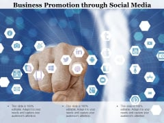 Business Promotion Through Social Media Ppt PowerPoint Presentation Infographics Designs