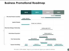 Business Promotional Roadmap Ppt Powerpoint Presentation Infographics Master Slide