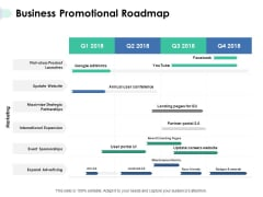 Business Promotional Roadmap Ppt PowerPoint Presentation Styles Rules