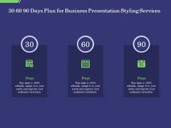 Business Proposal 30 60 90 Days Plan For Business Presentation Styling Services Graphics PDF