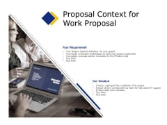 Business Proposal Context For Work Proposal Ppt Gallery Slide PDF