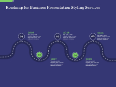 Business Proposal Roadmap For Business Presentation Styling Services Ppt Styles Brochure PDF