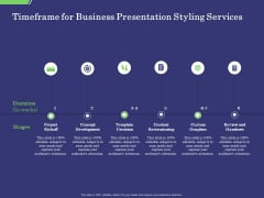 Business Proposal Timeframe For Business Presentation Styling Services Ppt Visual Aids Diagrams PDF