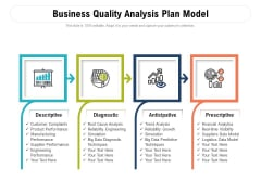 Business Quality Analysis Plan Model Ppt PowerPoint Presentation Gallery Background Designs PDF