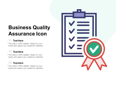Business Quality Assurance Icon Ppt PowerPoint Presentation Show Influencers PDF
