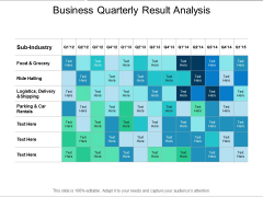 Business Quarterly Result Analysis Ppt PowerPoint Presentation Ideas Graphics Download