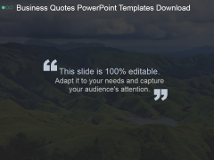 Business Quotes Ppt PowerPoint Presentation Example