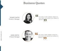 Business Quotes Ppt PowerPoint Presentation Layout