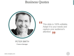 Business Quotes Ppt PowerPoint Presentation Shapes