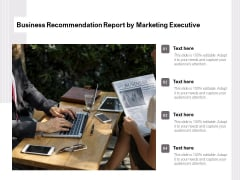 Business Recommendation Report By Marketing Executive Ppt PowerPoint Presentation Gallery Ideas PDF