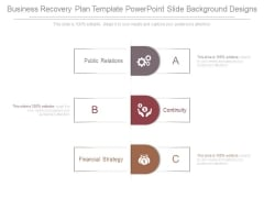 Business Recovery Plan Template Powerpoint Slide Background Designs