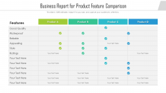 Business Report For Product Feature Comparison Ppt Gallery Model PDF