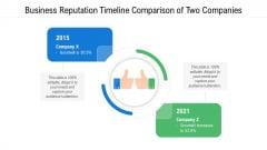 Business Reputation Timeline Comparison Of Two Companies Ppt PowerPoint Presentation Portfolio Design Ideas PDF