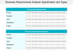 Business Requirements Analysis Specification And Types Ppt Powerpoint Presentation File Design Ideas
