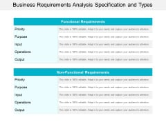 Business Requirements Analysis Specification And Types Ppt PowerPoint Presentation Outline Guide