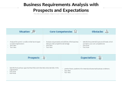 Business Requirements Analysis With Prospects And Expectations Ppt PowerPoint Presentation Slides Graphics Design PDF