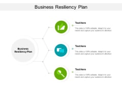 Business Resiliency Plan Ppt PowerPoint Presentation Inspiration Visual Aids Cpb
