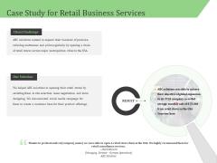 Business Retail Shop Selling Case Study For Retail Business Services Portrait PDF