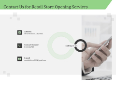 Business Retail Shop Selling Contact Us For Retail Store Opening Services Guidelines PDF