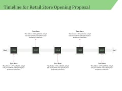 Business Retail Shop Selling Timeline For Retail Store Opening Proposal Themes PDF