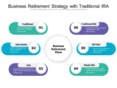 Business Retirement Strategy With Traditional IRA Ppt PowerPoint Presentation File Background Images PDF