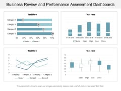 Business Review And Performance Assessment Dashboards Ppt PowerPoint Presentation Infographics Show