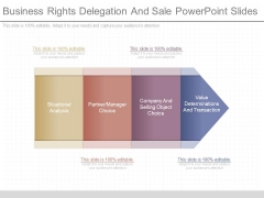 Business Rights Delegation And Sale Powerpoint Slides