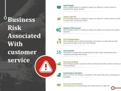 Business Risk Associated With Customer Service Ppt PowerPoint Presentation Icon Images