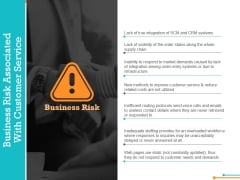 Business Risk Associated With Customer Service Template 1 Ppt Powerpoint Presentation Pictures Deck