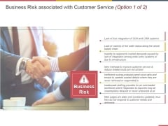 Business Risk Associated With Customer Service Template 1 Ppt PowerPoint Presentation Templates