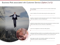 Business Risk Associated With Customer Service Template 2 Ppt PowerPoint Presentation Ideas Vector