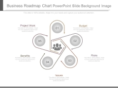 Business Roadmap Chart Powerpoint Slide Background Image