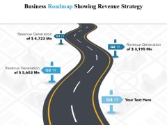 Business Roadmap Showing Revenue Strategy Ppt PowerPoint Presentation Gallery Portfolio