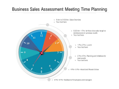 Business Sales Assessment Meeting Time Planning Ppt PowerPoint Presentation Gallery Show PDF