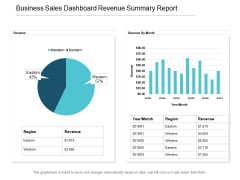 Business Sales Dashboard Revenue Summary Report Ppt PowerPoint Presentation Pictures Structure
