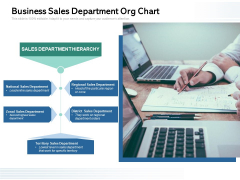 Business Sales Department Org Chart Ppt PowerPoint Presentation File Example File PDF