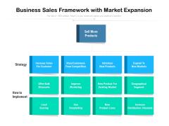 Business Sales Framework With Market Expansion Ppt PowerPoint Presentation Icon Slides PDF
