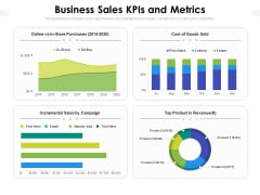 Business Sales Kpis And Metrics Ppt PowerPoint Presentation File Skills PDF