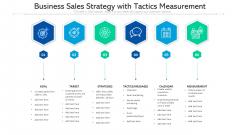 Business Sales Strategy With Tactics Measurement Ppt PowerPoint Presentation Styles Portfolio PDF