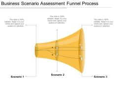 Business Scenario Assessment Funnel Process Ppt PowerPoint Presentation Outline Graphics Download PDF