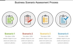 Business Scenario Assessment Process Ppt PowerPoint Presentation Portfolio Graphics PDF