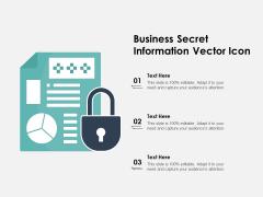 Business Secret Information Vector Icon Ppt PowerPoint Presentation Slides Sample PDF