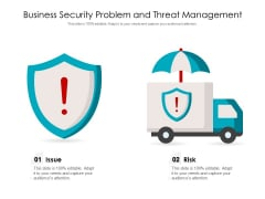 Business Security Problem And Threat Management Ppt PowerPoint Presentation Model Gridlines PDF