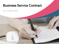 Business Service Contract Briefcase Carrying Shaking Hands Ppt PowerPoint Presentation Complete Deck