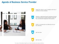 Business Service Provider Agenda Of Business Service Provider Structure PDF