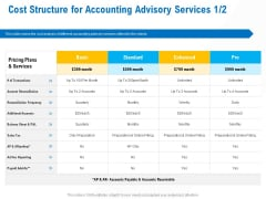 Business Service Provider Cost Structure For Accounting Advisory Services Additional Sample PDF